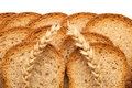 Toast in slices and two ears of wheat Royalty Free Stock Photos