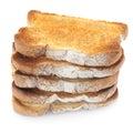 Toast Stack Royalty Free Stock Photo