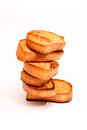 Toasted bread isolated on white background Stock Image
