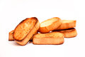 Toasted bread isolated on white background Stock Images