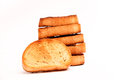 Toasted bread isolated on white background Stock Photography