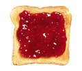 Toasted bread with jam isolated on white background Stock Photography