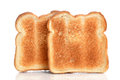 Toasted bread on white background Stock Photography