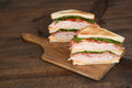Toasted chicken club sandwich Royalty Free Stock Photo