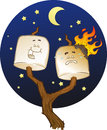 Toasted Marshmallow Characters Stock Photo
