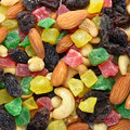 Toasted nuts and candied fruit Royalty Free Stock Images