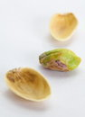 Toasted pistachios healthy on a white background Royalty Free Stock Image