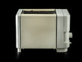 Toaster old grunge over black background Stock Images