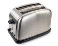 Toaster on white background aluminum Royalty Free Stock Photos