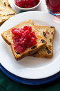 Toasts with fruits Stock Photography