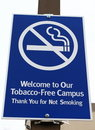 Tobacco Free Sign Stock Image