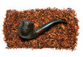 Tobacco and pipe Stock Photo