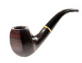 Tobacco pipe nice photo close up on white background isolated Stock Photos