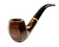 Tobacco pipe nice photo close up on white background isolated Stock Images