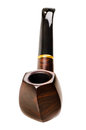 Tobacco pipe nice photo close up on white background isolated Royalty Free Stock Photo