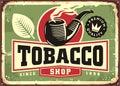 Tobacco shop retro store sign design idea Royalty Free Stock Photo