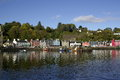 Tobermory harbour is the main town on the island of mull in the inner hebrides Royalty Free Stock Photo