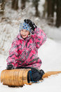 Tobogganing fun Royalty Free Stock Photos