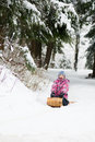 Tobogganing fun Stock Photography
