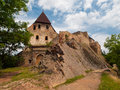Tocnik castle old gate and ruined facade of czech republic Stock Image