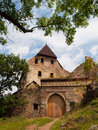 Tocnik castle old gate and ruined facade of czech republic Royalty Free Stock Photos