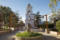 Toconao church tower in Toconao, Chile Royalty Free Stock Photo