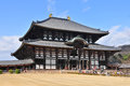 Todai ji temple in nara japan the daibutsu den at the Royalty Free Stock Images