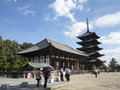 Todai ji temple at nara visitors buddhist in japan Royalty Free Stock Photos