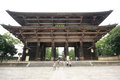 Todaiji temple in nara japan aug the world s largest wooden building and world heritage site on august Stock Photos
