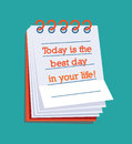 Today is the best day in your life! Royalty Free Stock Photos