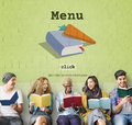 Today's Special Quick Recipes Menu Lunch Concept Royalty Free Stock Photo