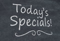 Today's specials Royalty Free Stock Photo