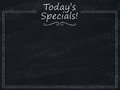 Today's specials menu Royalty Free Stock Photo