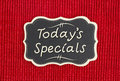 Today`s Specials sign Royalty Free Stock Photo