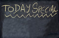 Today special written on chalkboard concept photo of food and drinks Royalty Free Stock Image