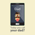 Today you call your dad. Fathers Day Card. Royalty Free Stock Photo
