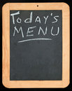 Todays Menu sign Stock Photography