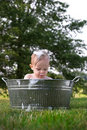 Todder in Tub Royalty Free Stock Photography