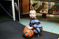 Toddler with a ball Royalty Free Stock Photo