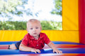 Toddler in Bounce House Royalty Free Stock Photo
