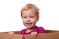 Toddler in box Royalty Free Stock Images