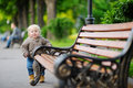 Toddler boy in the park Royalty Free Stock Photo