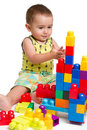 Toddler building a castle Stock Photography