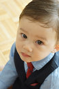 Toddler in Business Attire Royalty Free Stock Photo