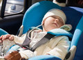 Toddler in a car seat Royalty Free Stock Photos