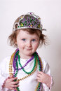 Toddler Celebrating Mardi Gras Stock Photography