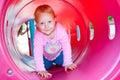 Toddler child crawling. Royalty Free Stock Photo