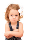 Toddler with Crossed Arms Royalty Free Stock Photography