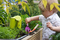 Toddler gardens Royalty Free Stock Images