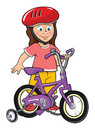 Toddler girl with bike